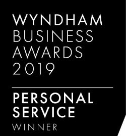 Wyndham business awards Personal Service winner 2019